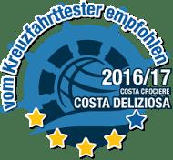 Costa Kreuzfahrten Testsiegel