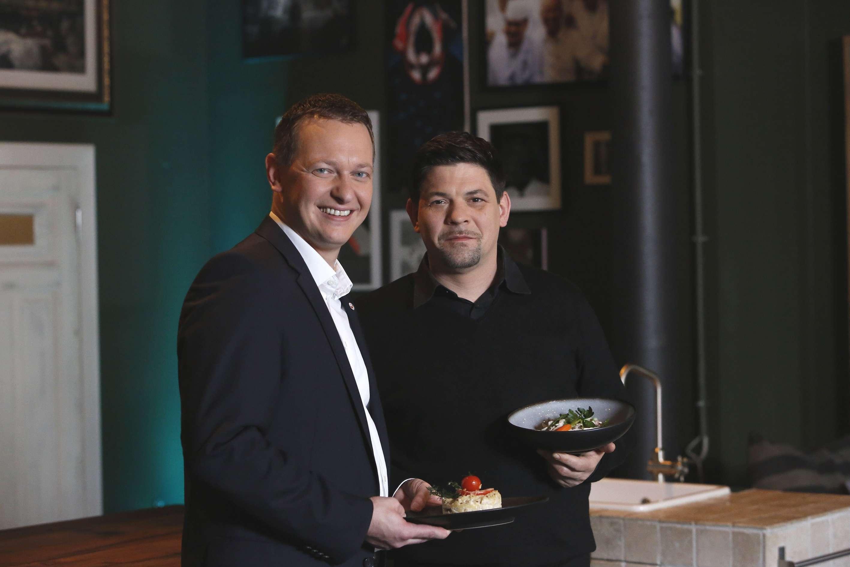 Tim Maelzer und AIDA President Felix Eichhorn