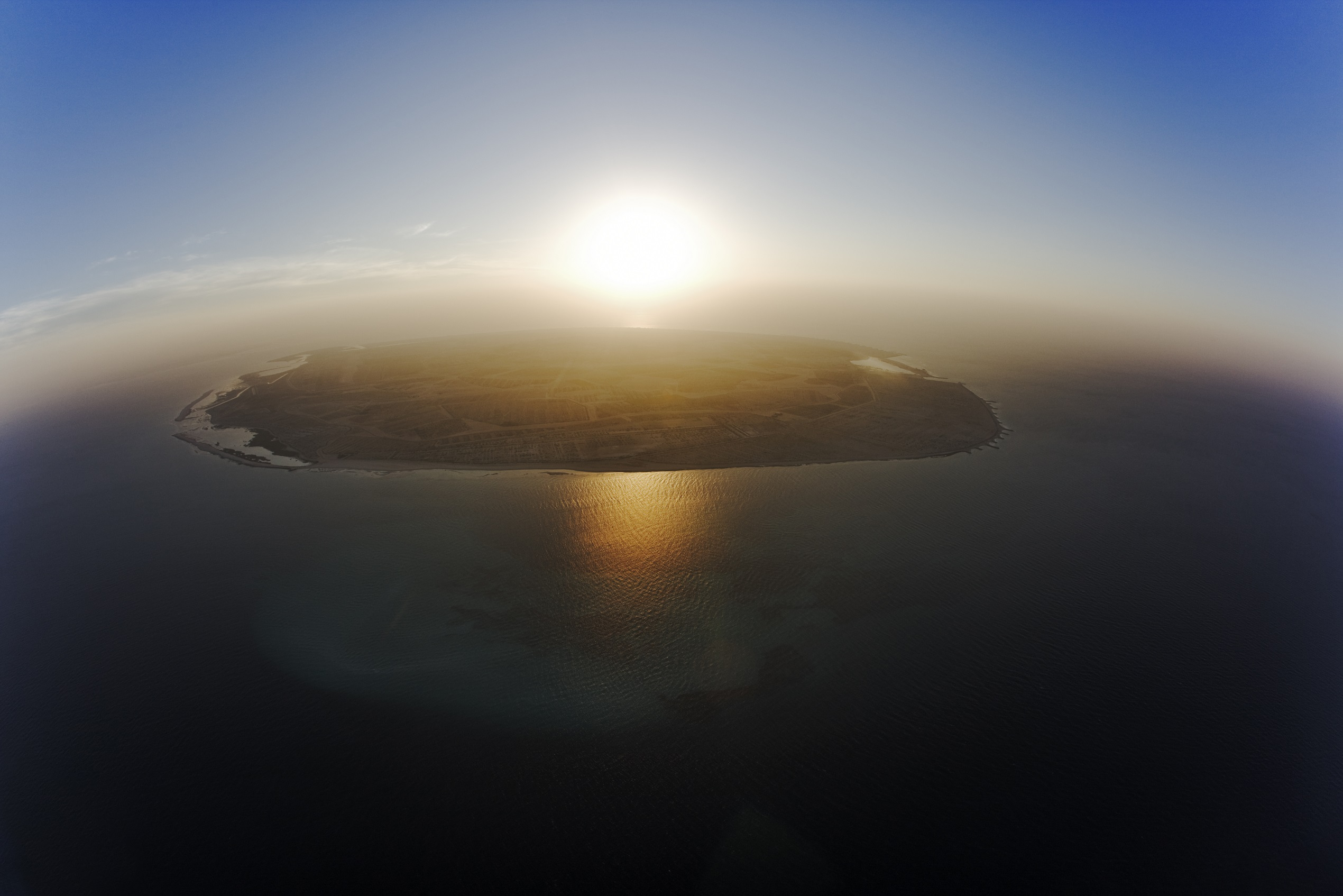 Sir Bani Yas Aerial - Sunset_