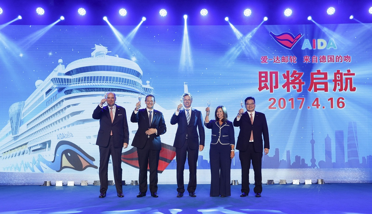 AIDA startet Vermarktung in China