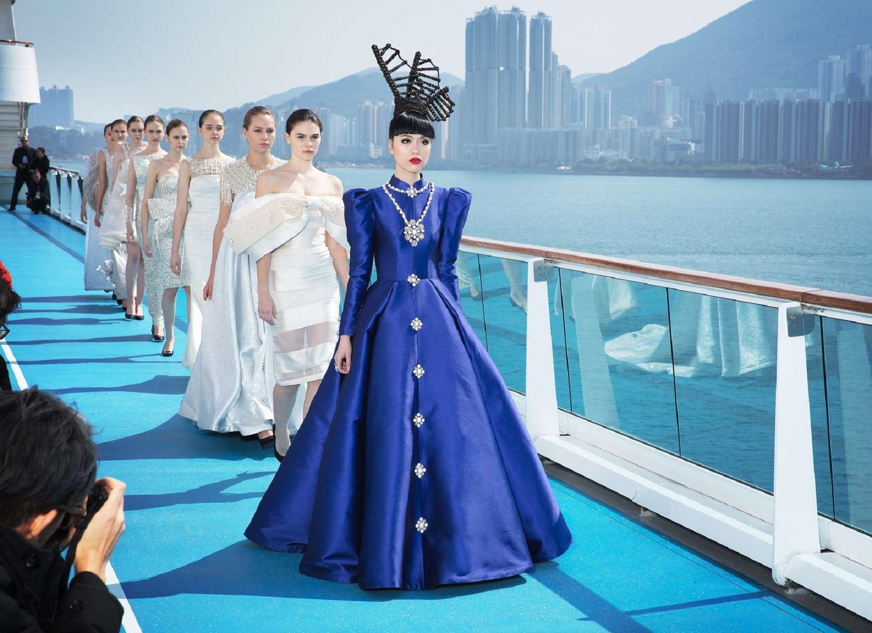 Jessica Minh Anh on Costa neoRomantica in Xiao Fen design FINALE