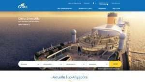 Costa Kreuzfahrten führt neue Homepage ein